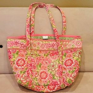 "Vera Bradley quilted cotton tote. 14"" x 7.5"" x 12"""